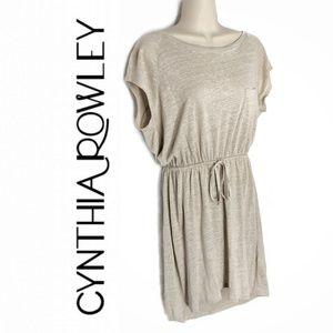 Cynthia Rowley Linen Pocket Drawstring Dress Sz S